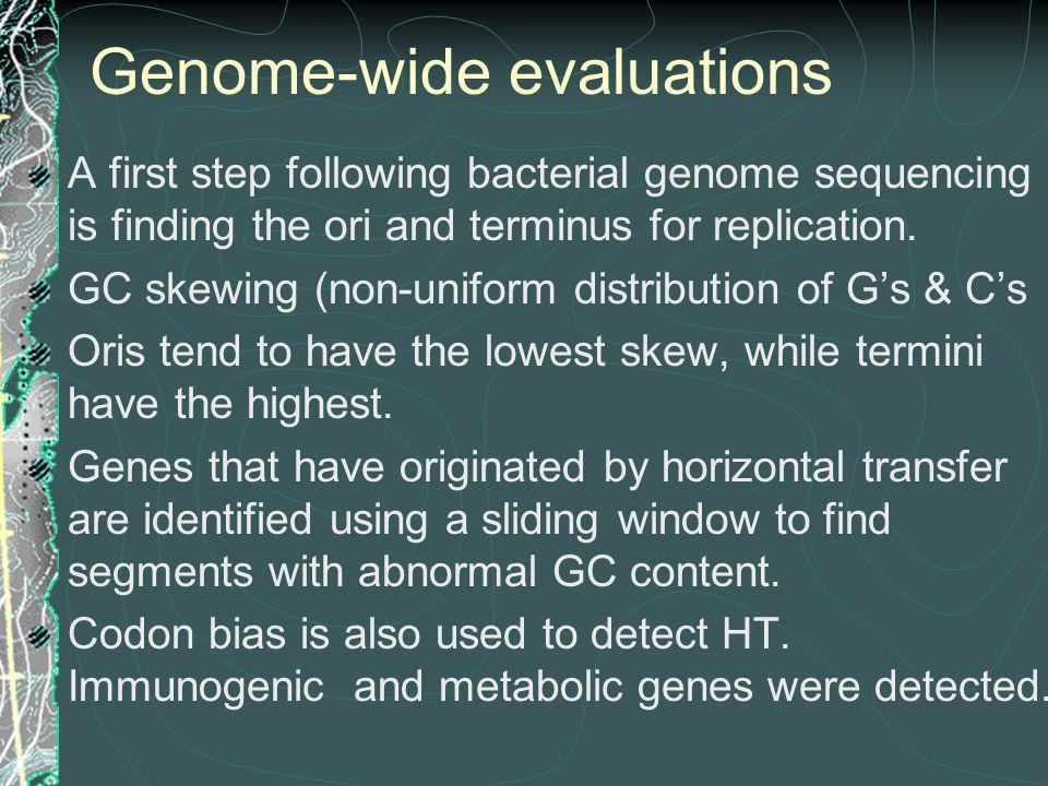 Genome-wide evaluations