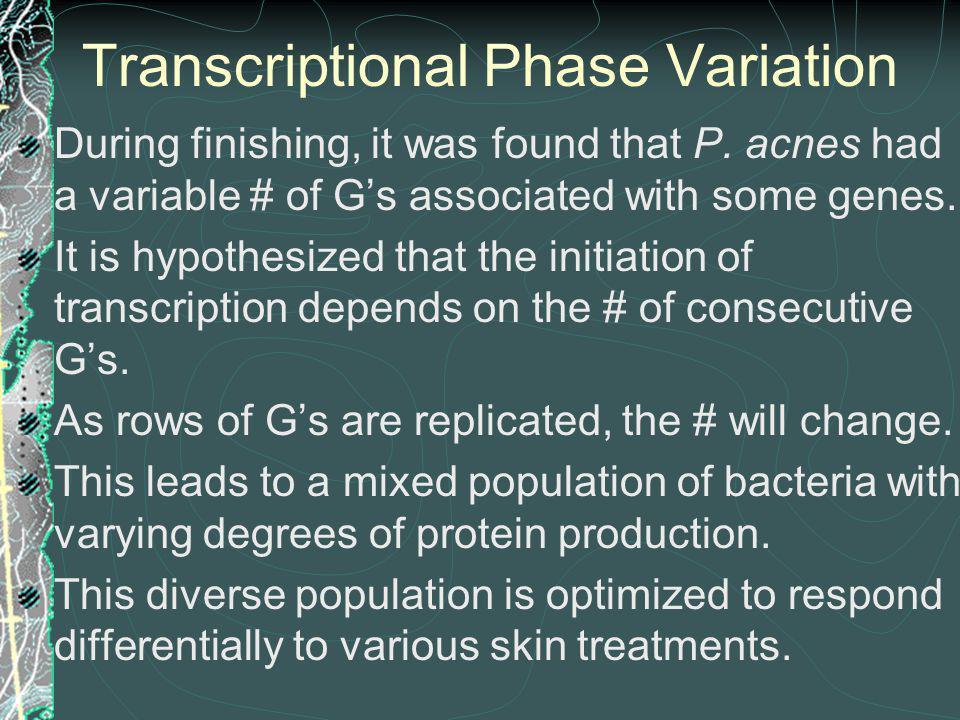Transcriptional Phase Variation