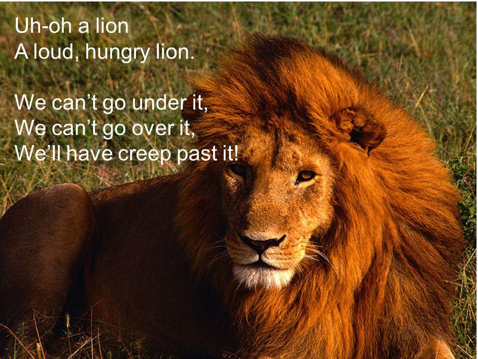 Uh-oh a lion A loud, hungry lion.