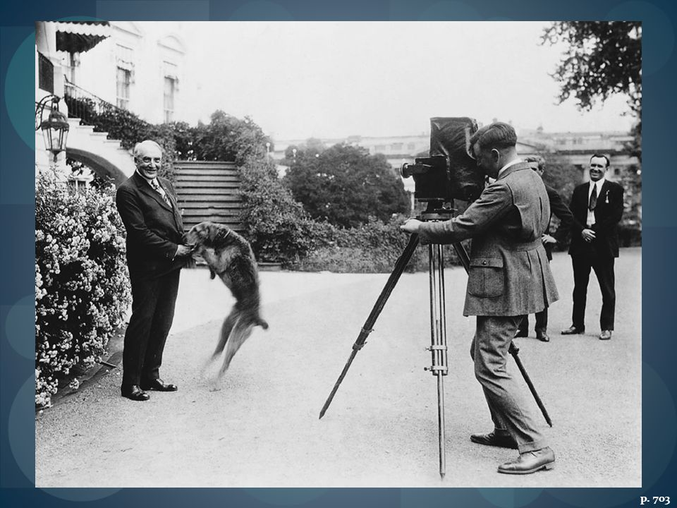 PRESIDENT HARDING WITH LADDIE, JUNE 1922 As politicians learned the arts of publicity, posed scenes like this became more common.
