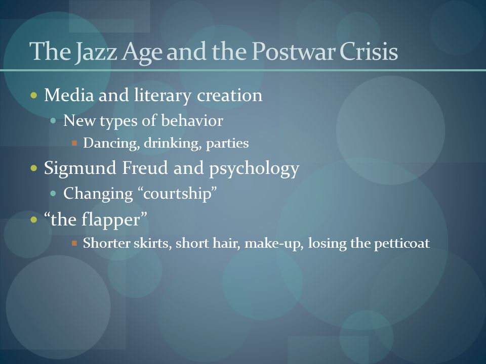 The Jazz Age and the Postwar Crisis