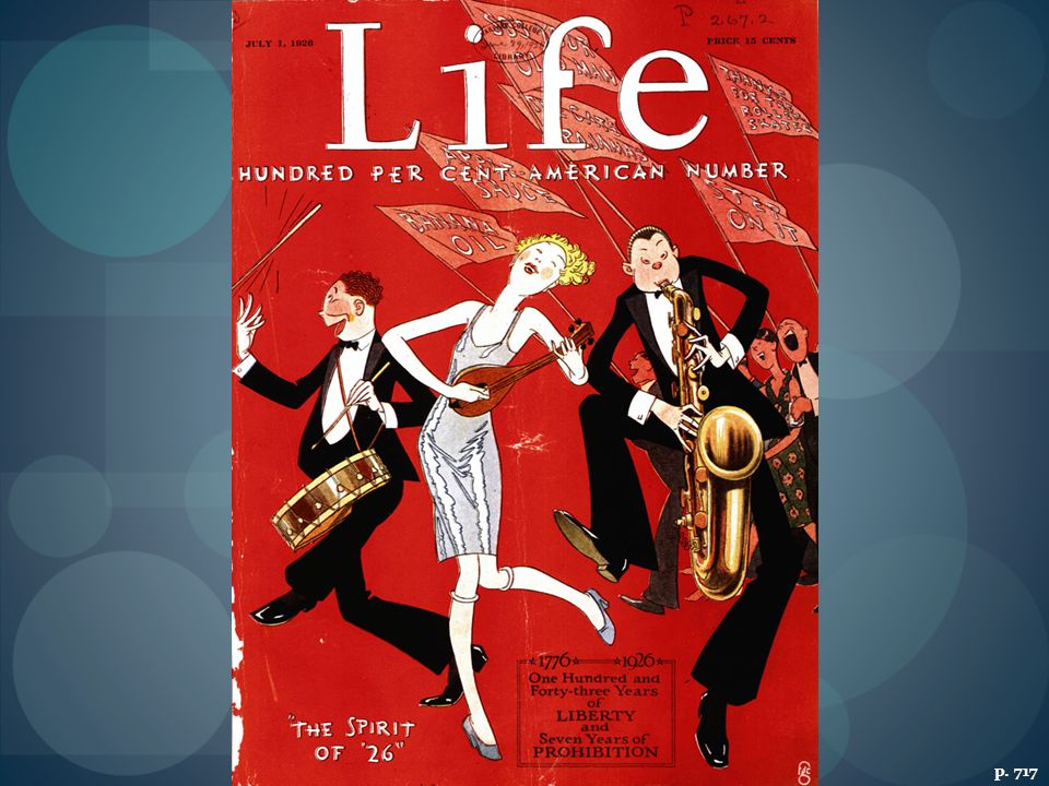 THE JAZZ AGE Rooted in New Orleans' black culture, jazz gained broad popularity in the 1920s, especially among young cultural rebels, as caricatured in this 1926 magazine cover.