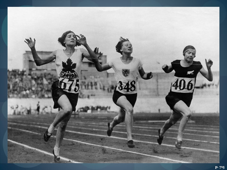 WOMEN ATHLETES AT THE 1928 OLYMPIC GAMES IN AMSTERDAM Runners from (l
