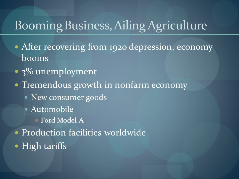 Booming Business, Ailing Agriculture