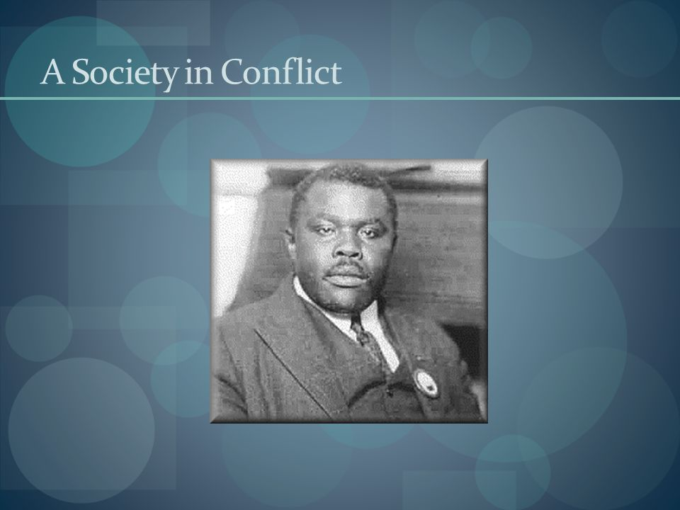 A Society in Conflict