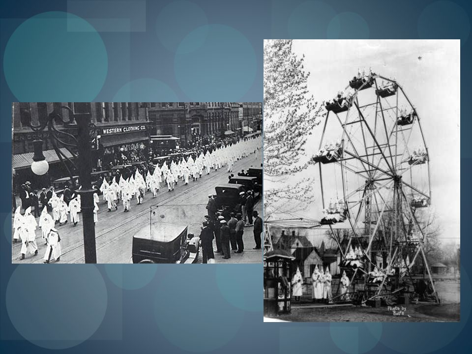 KKK on Ferris wheel. Courtesy Cañon City Public Library Local History Collection