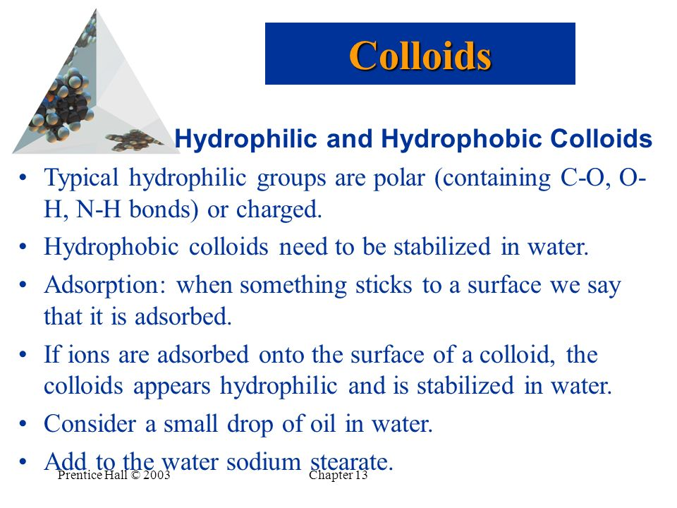Colloids Hydrophilic and Hydrophobic Colloids