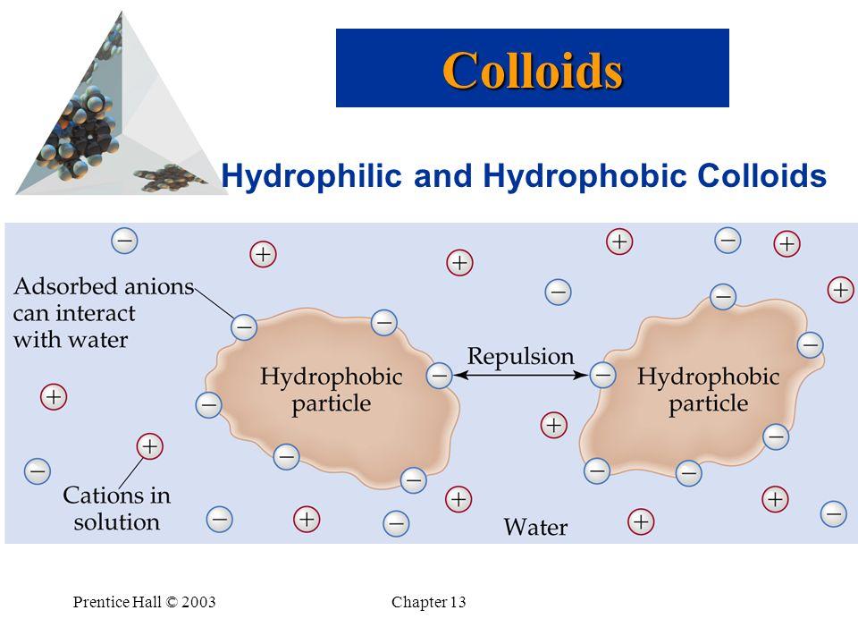 Colloids Hydrophilic and Hydrophobic Colloids Prentice Hall © 2003