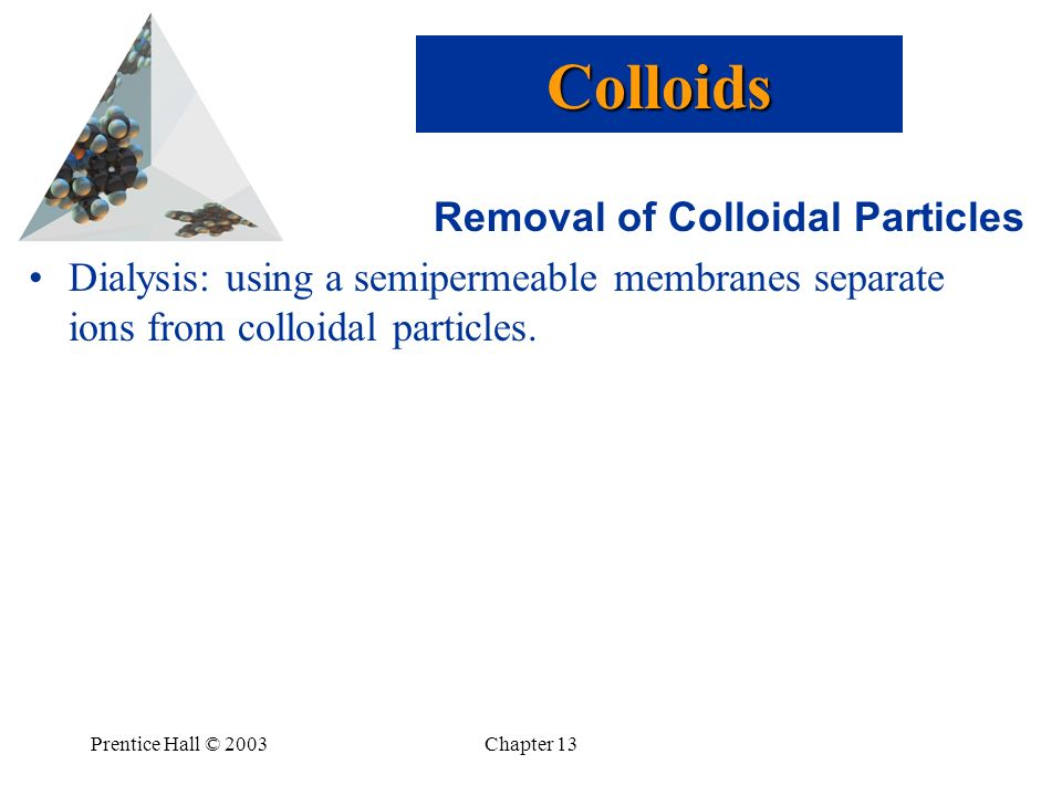 Colloids Removal of Colloidal Particles