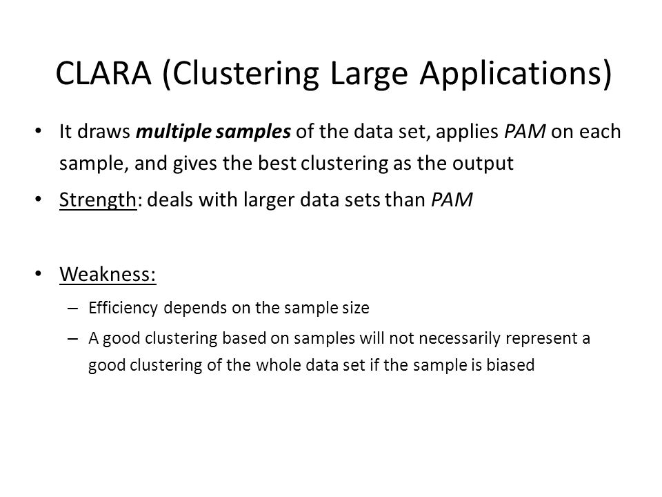 CLARA (Clustering Large Applications)