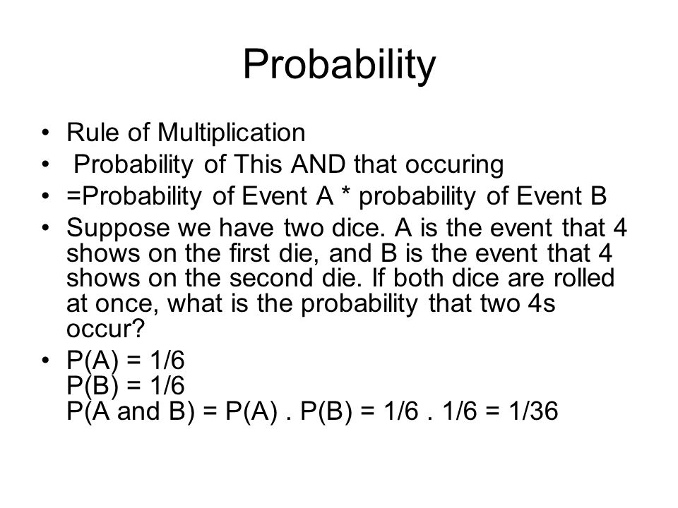 Probability Rule of Multiplication