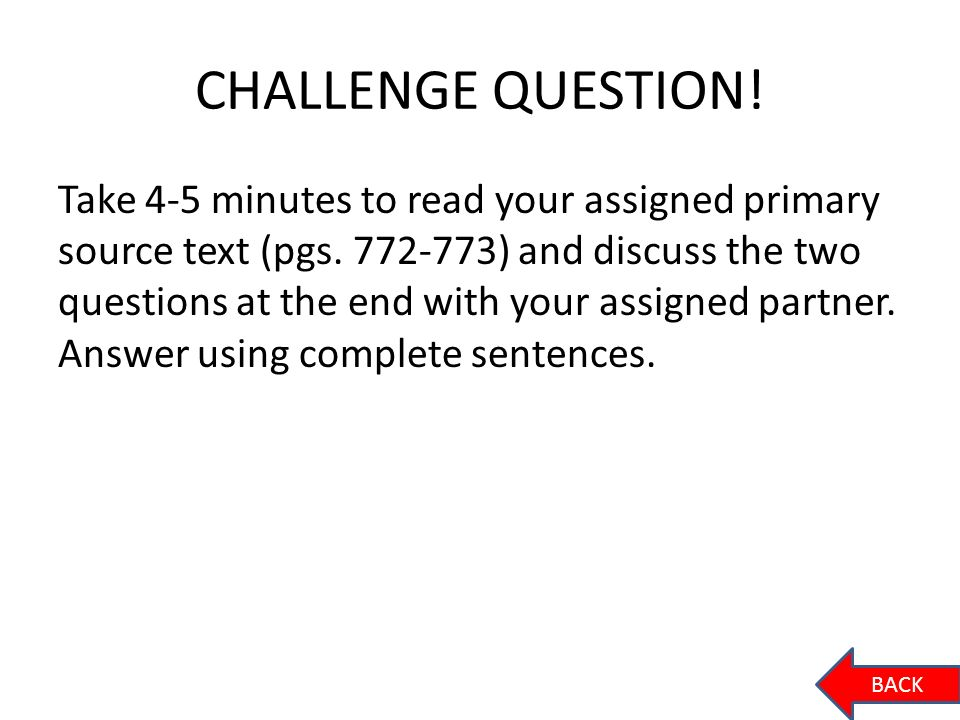 CHALLENGE QUESTION!