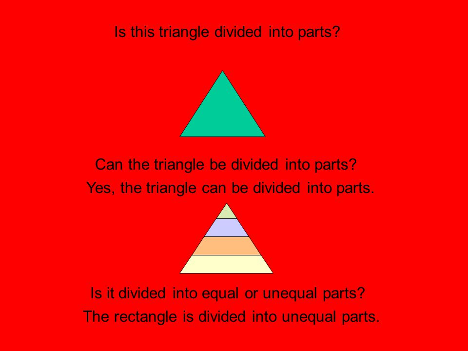 Is this triangle divided into parts