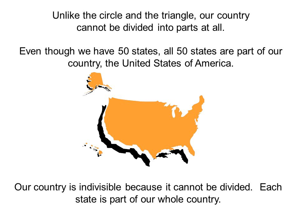 Unlike the circle and the triangle, our country