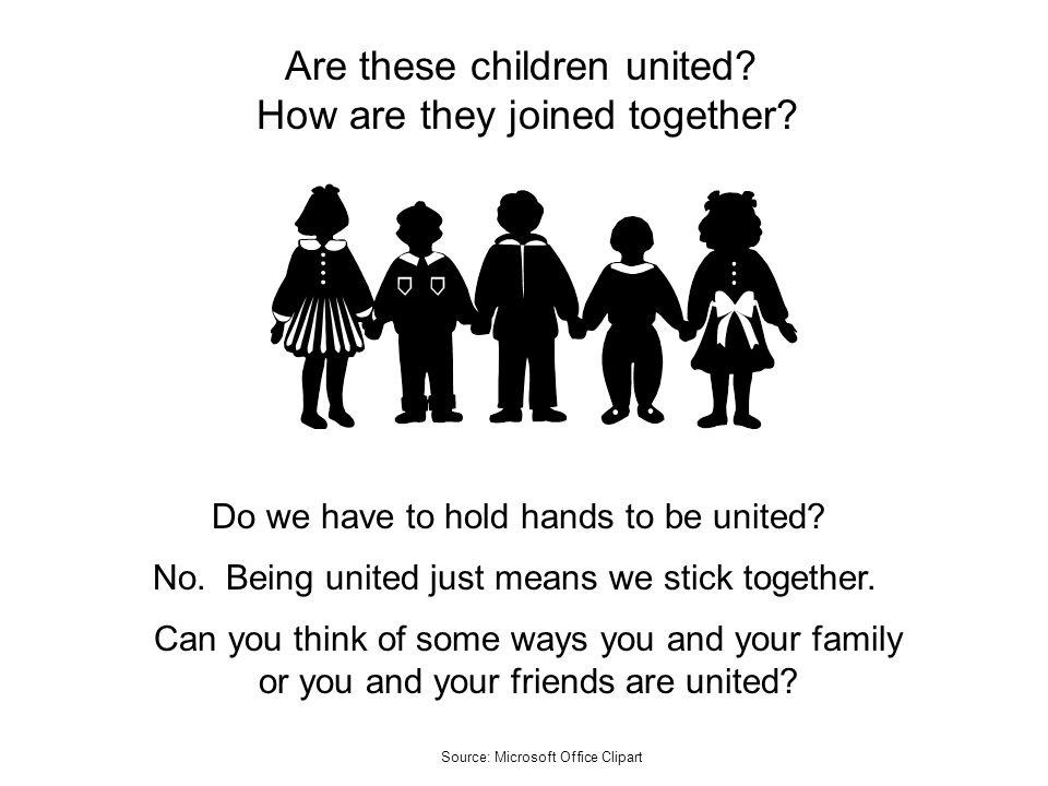 Are these children united How are they joined together
