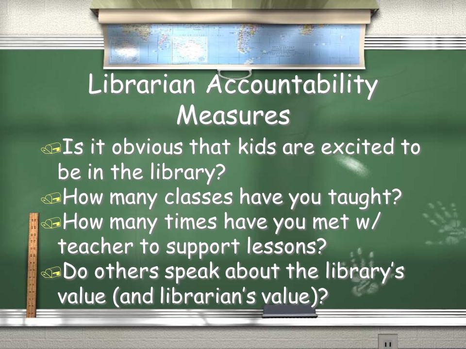 Librarian Accountability Measures