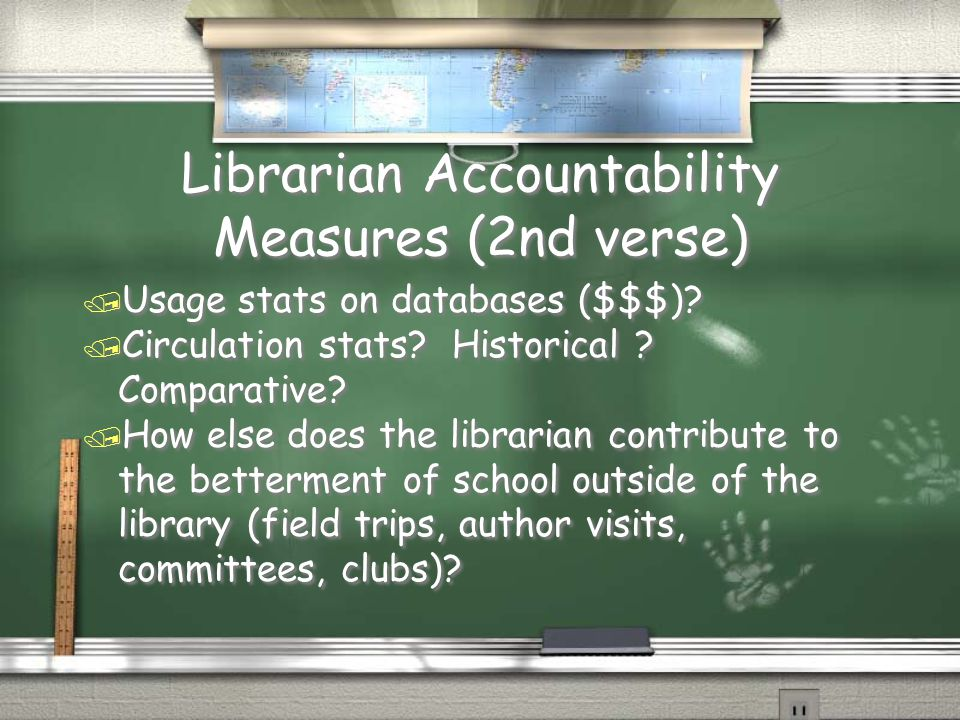 Librarian Accountability Measures (2nd verse)