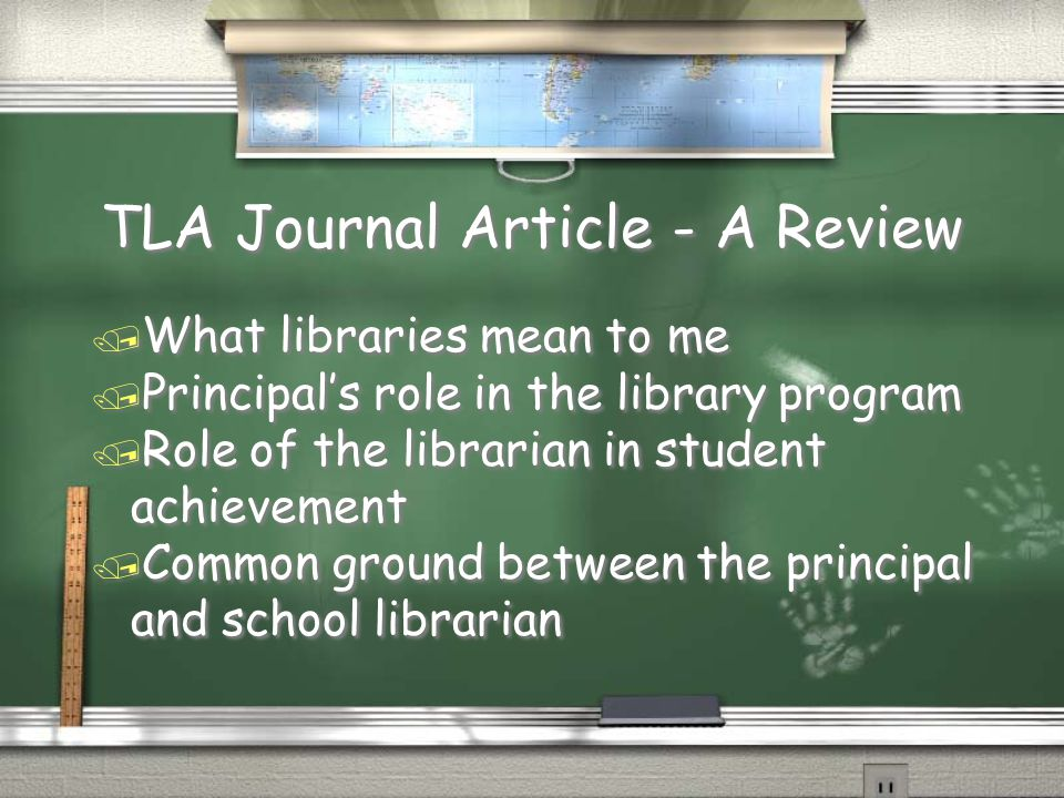 TLA Journal Article - A Review