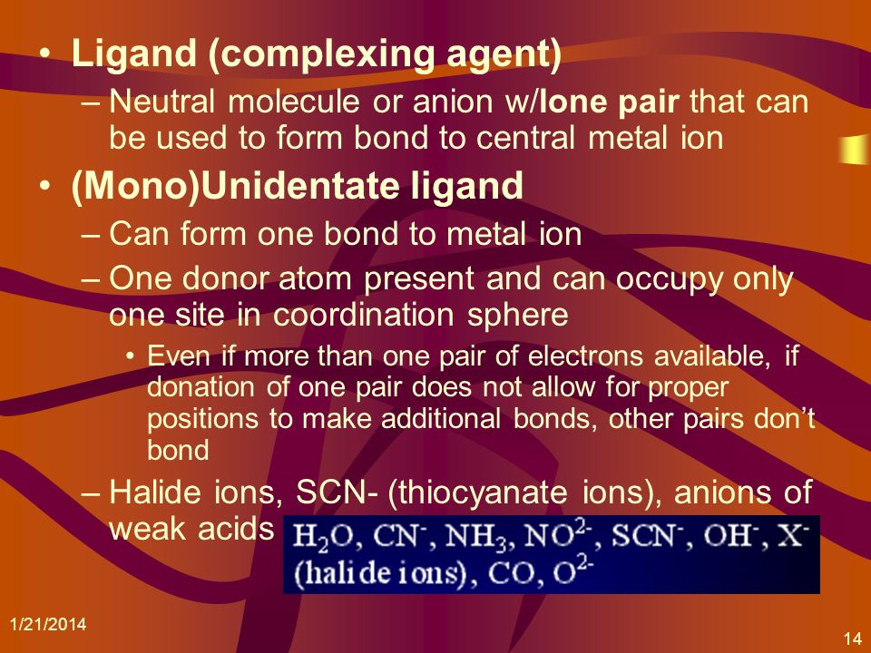 Ligand (complexing agent)