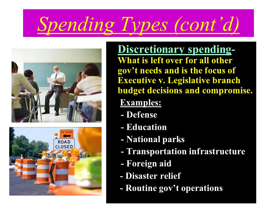 Spending Types (cont'd)