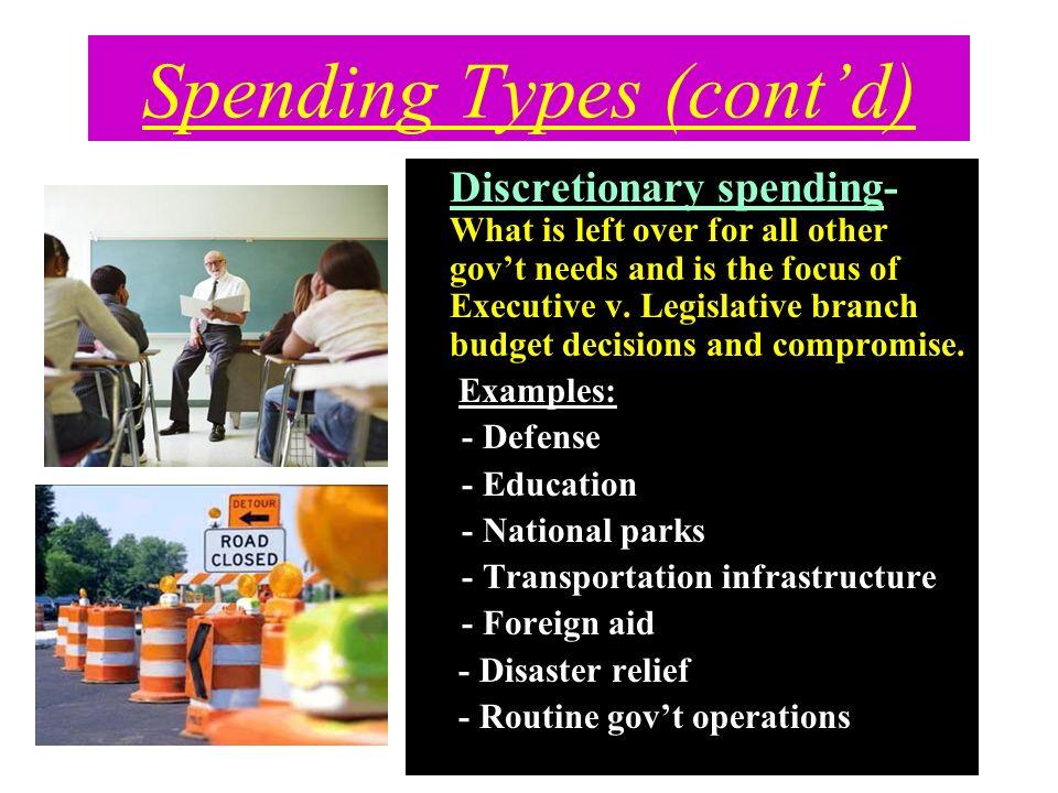 Spending Types (cont'd)