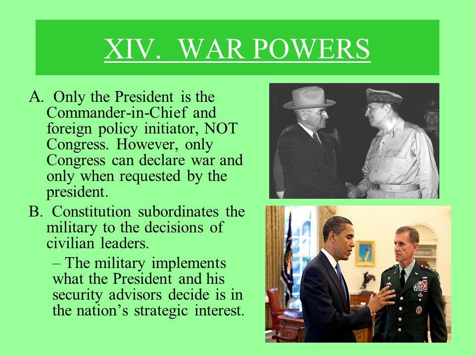 XIV. WAR POWERS