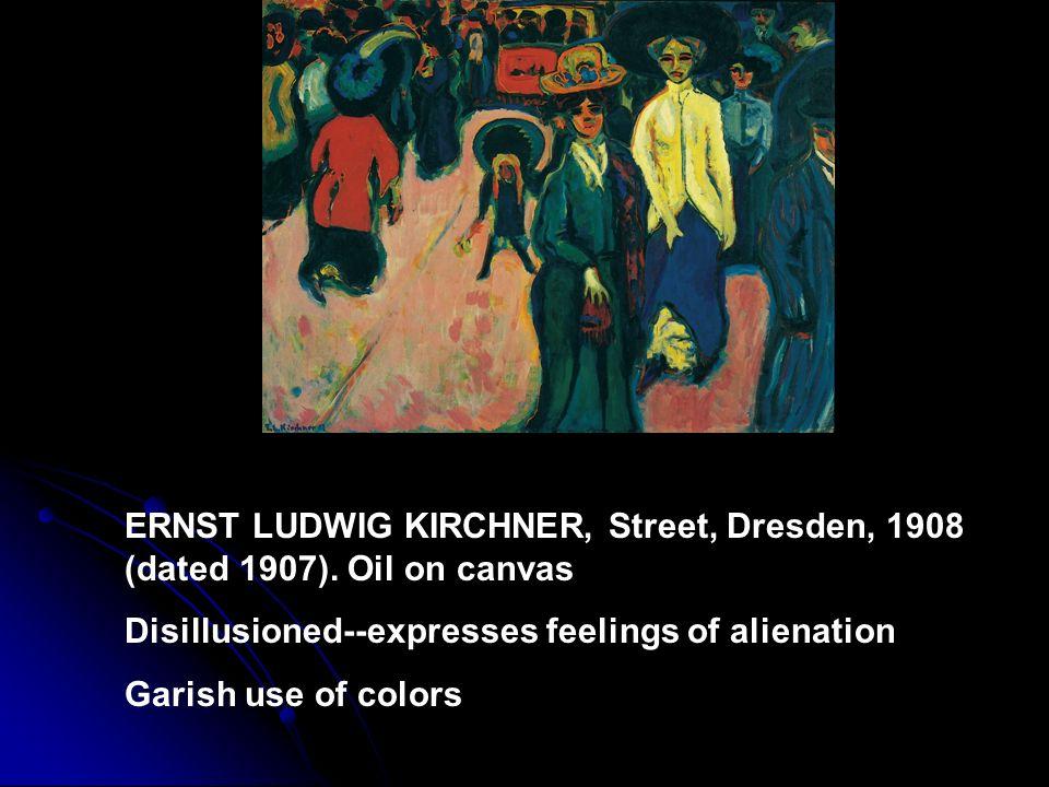ERNST LUDWIG KIRCHNER, Street, Dresden, 1908 (dated 1907)