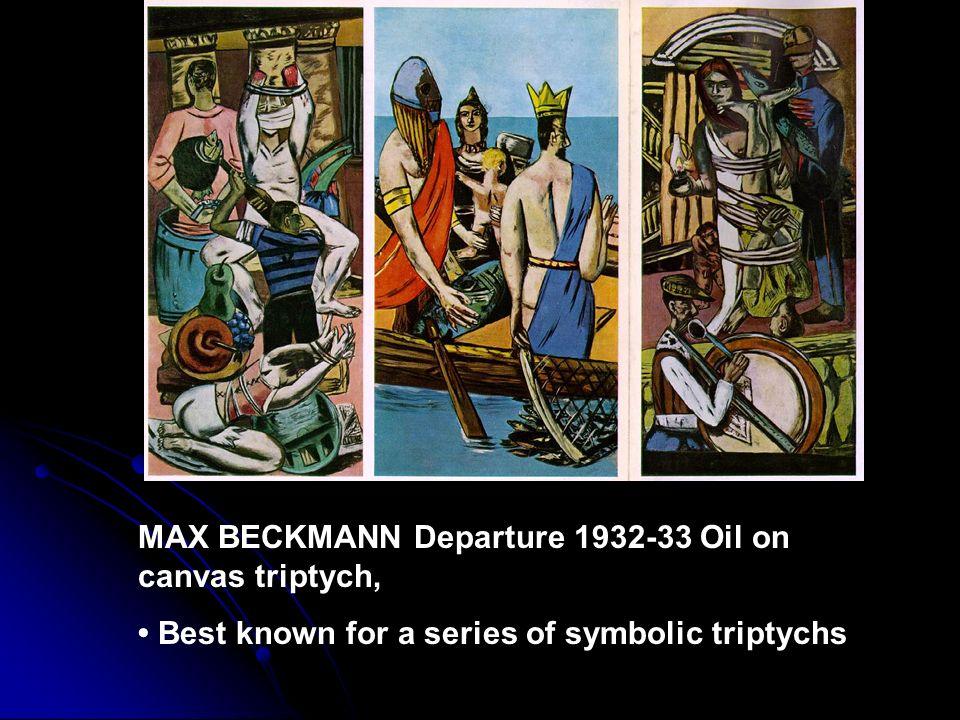 MAX BECKMANN Departure 1932-33 Oil on canvas triptych,