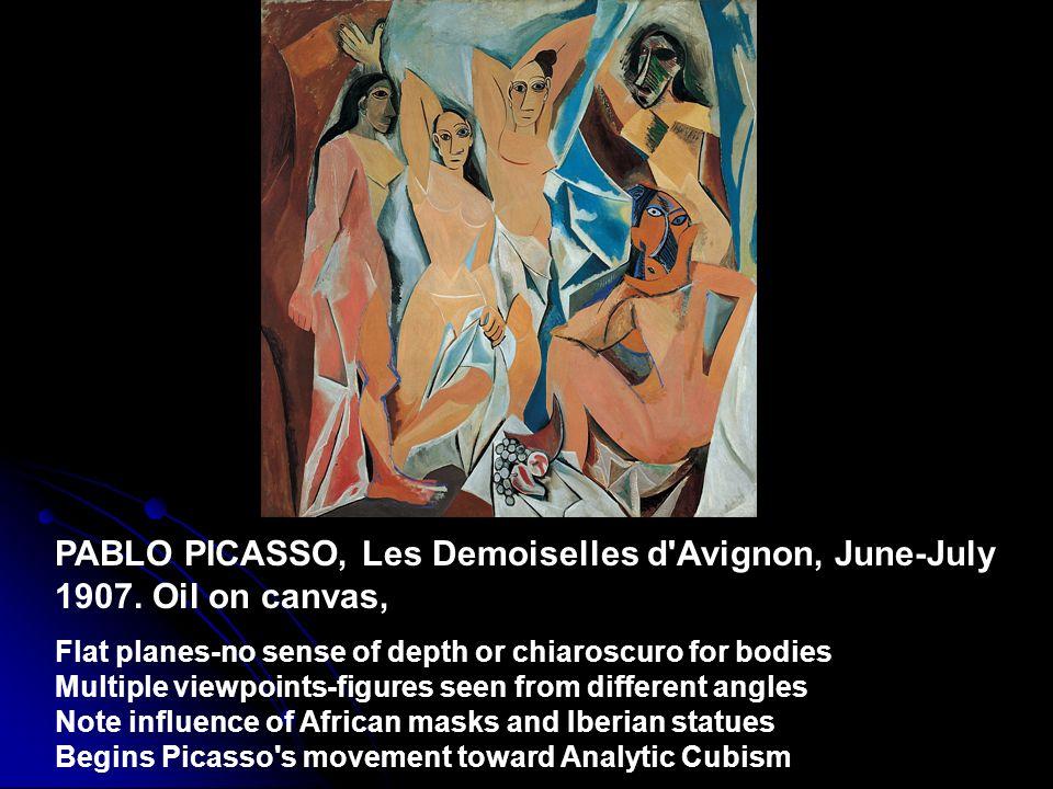 PABLO PICASSO, Les Demoiselles d Avignon, June-July 1907