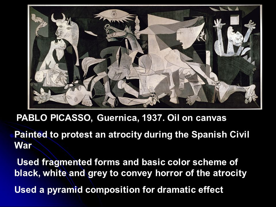 Painted to protest an atrocity during the Spanish Civil War