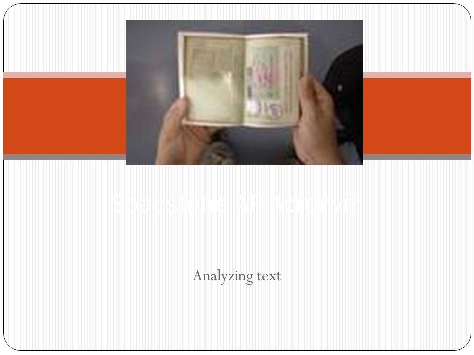 Soapstone AP Acronym Analyzing text