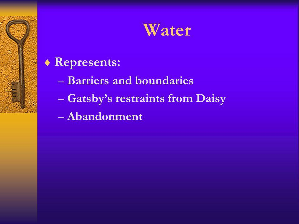 Water Represents: Barriers and boundaries