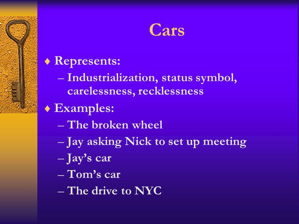 Cars Represents: Examples: