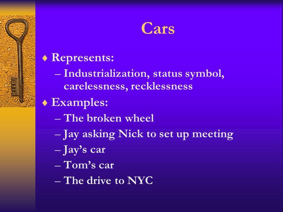 Cars Represents: Examples: