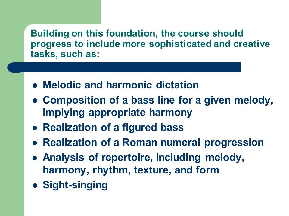 Melodic and harmonic dictation