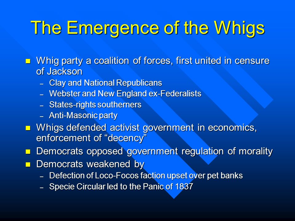 The Emergence of the Whigs