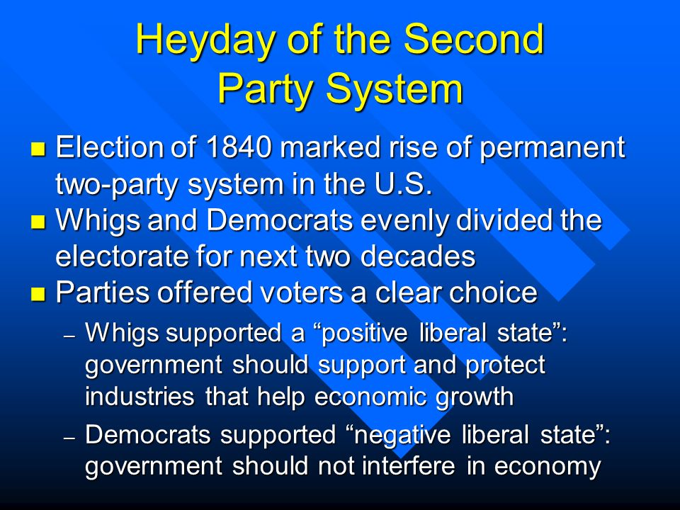 Heyday of the Second Party System