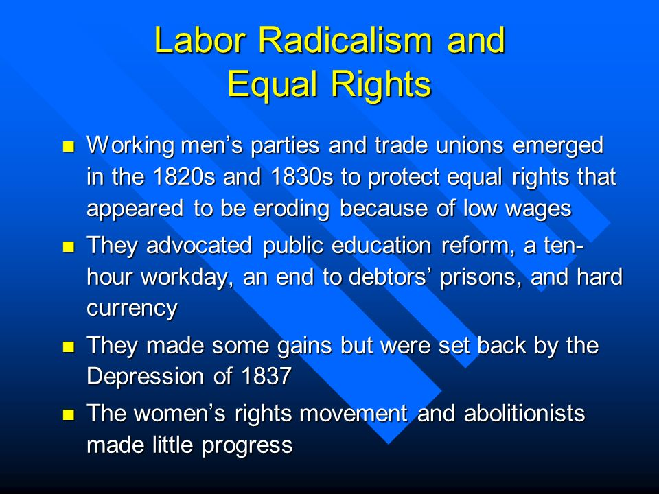 Labor Radicalism and Equal Rights