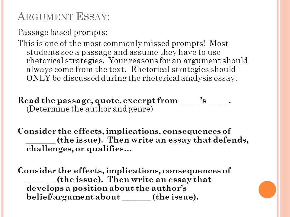 rhetorical arguments essay (writing@csu)this site outlines five of lloyd bitzer's rhetorical elements that can assist readers in analyzing an argument essay.