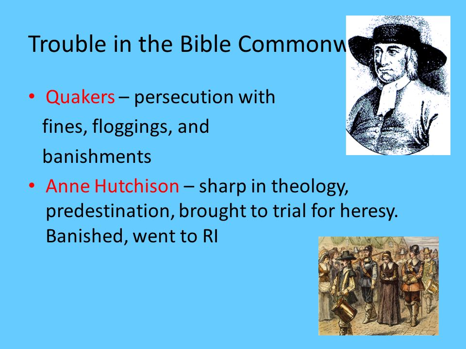 Trouble in the Bible Commonwealth