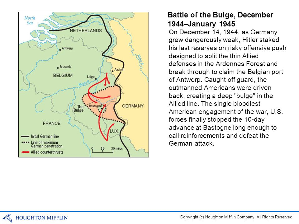 Battle of the Bulge, December 1944–January 1945