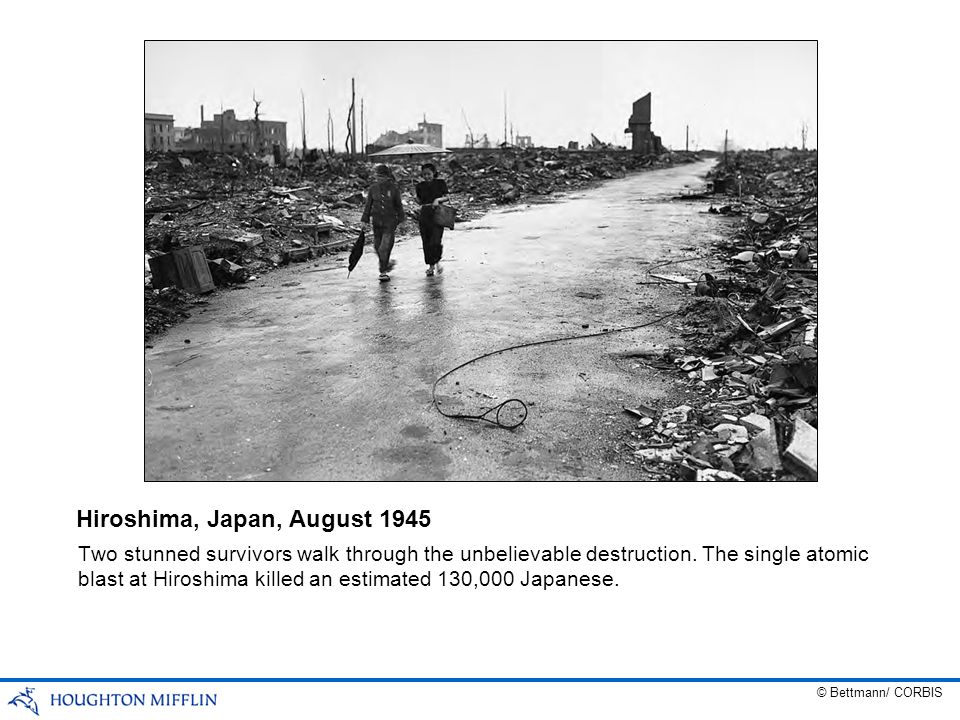 Hiroshima, Japan, August 1945
