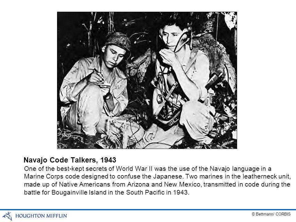 Navajo Code Talkers, 1943