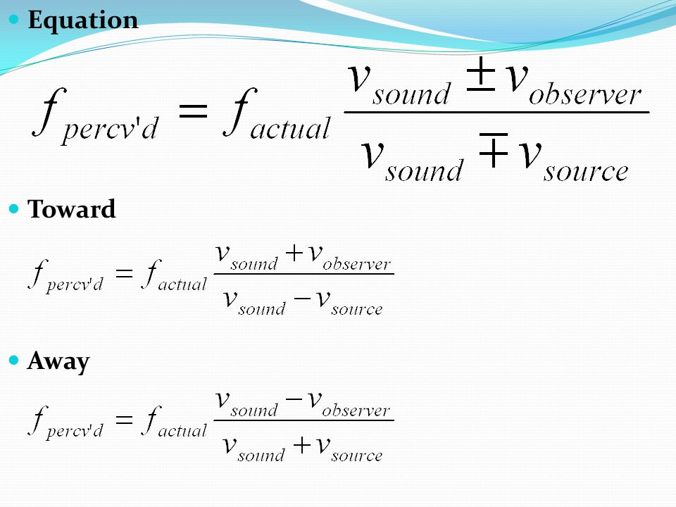 Equation Toward Away