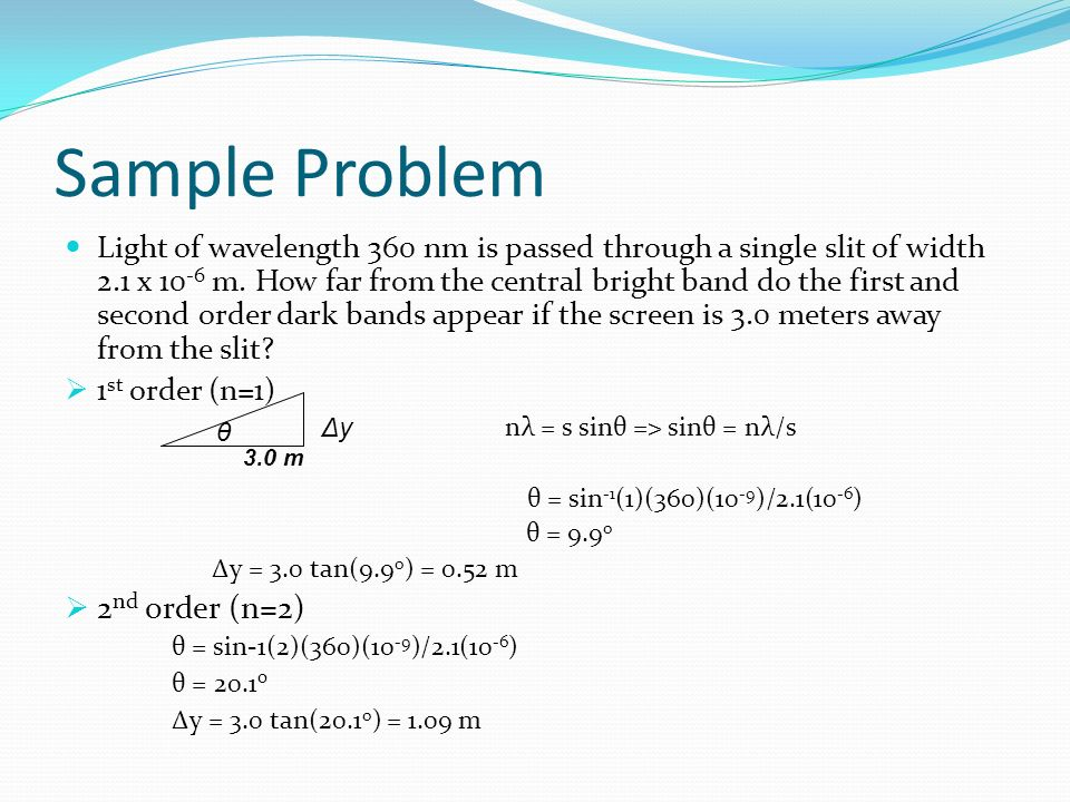 Sample Problem 2nd order (n=2)