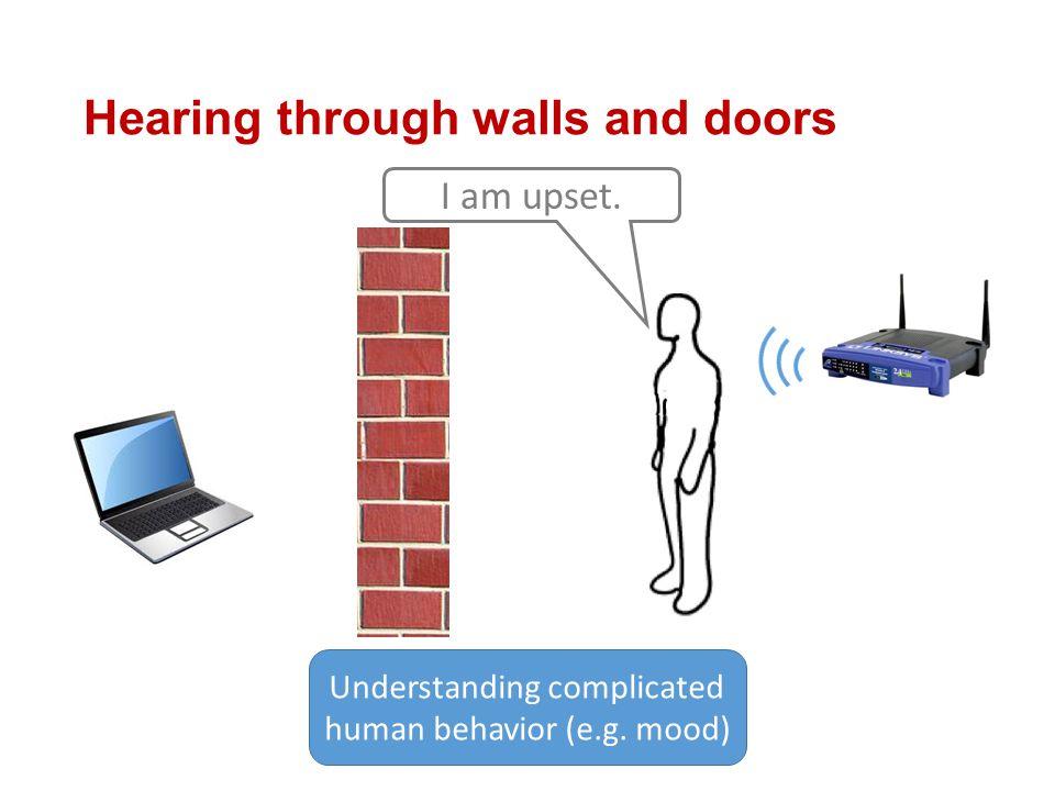 Hearing through walls and doors