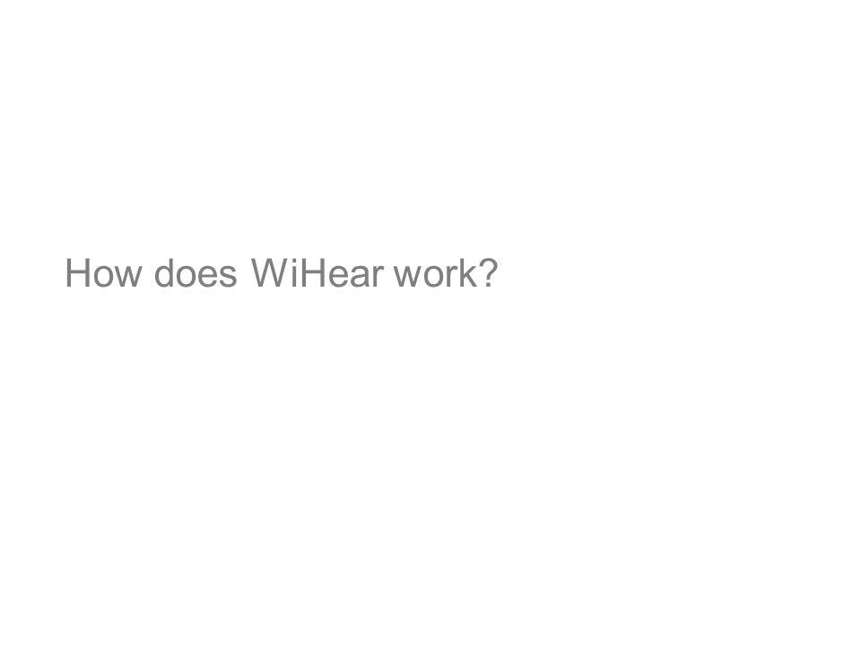 How does WiHear work So how does wihear work