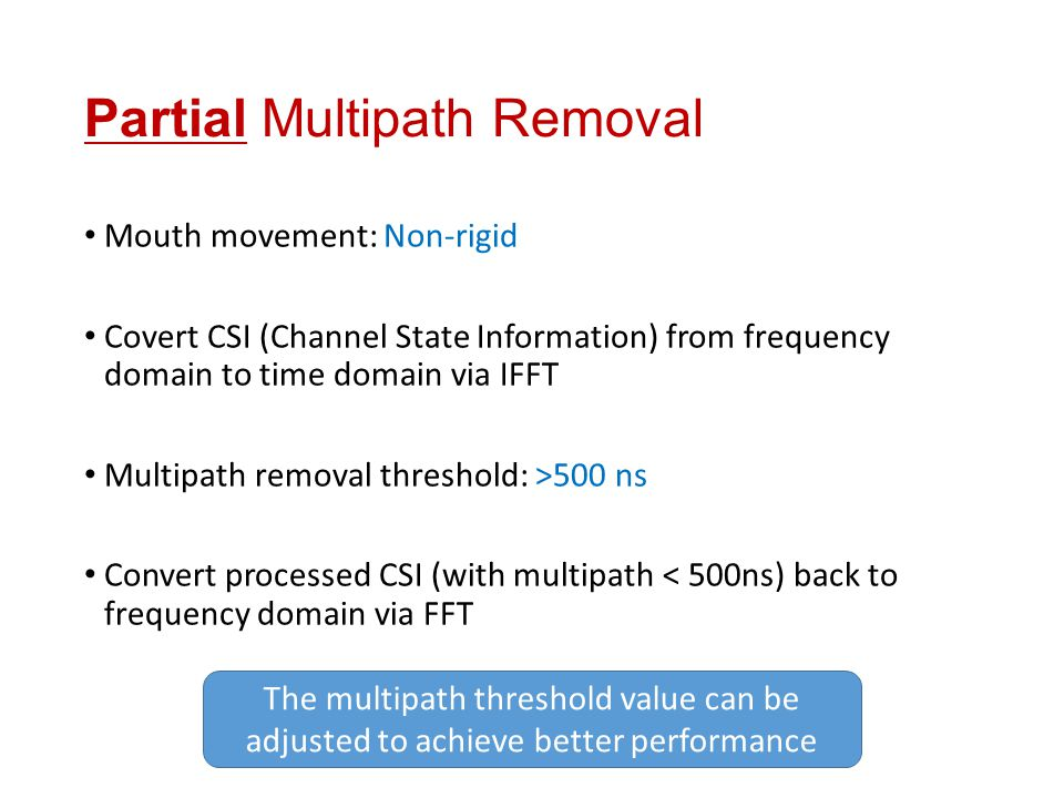 Partial Multipath Removal