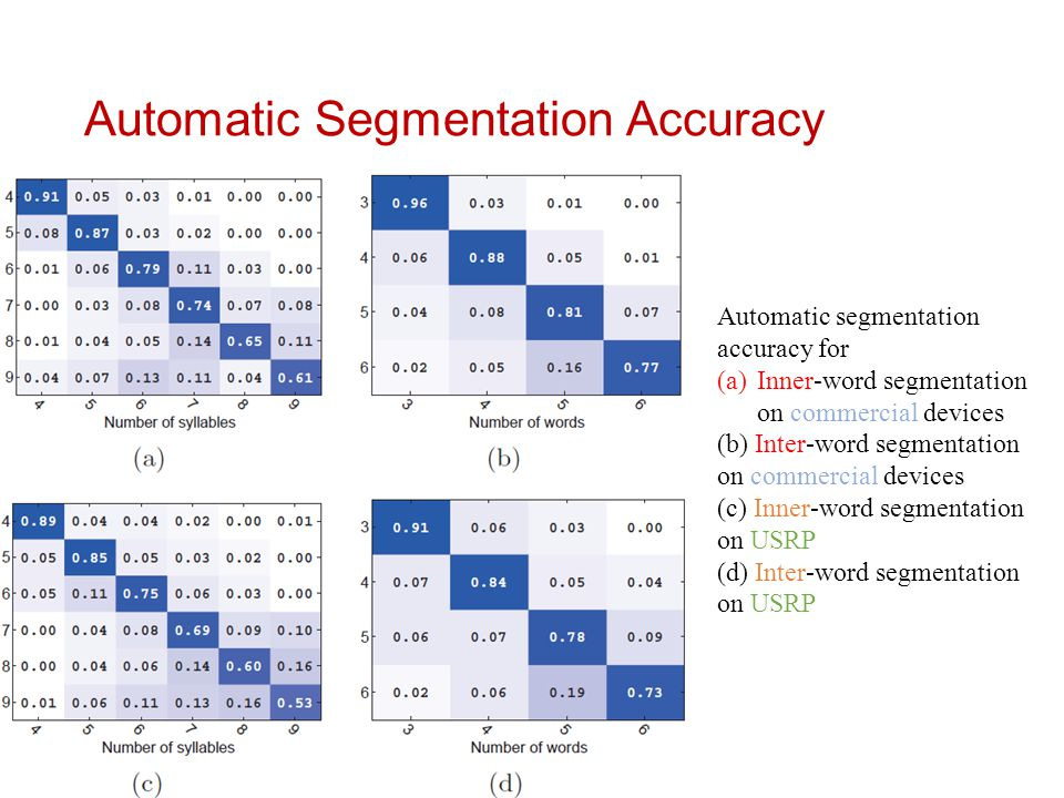 Automatic Segmentation Accuracy