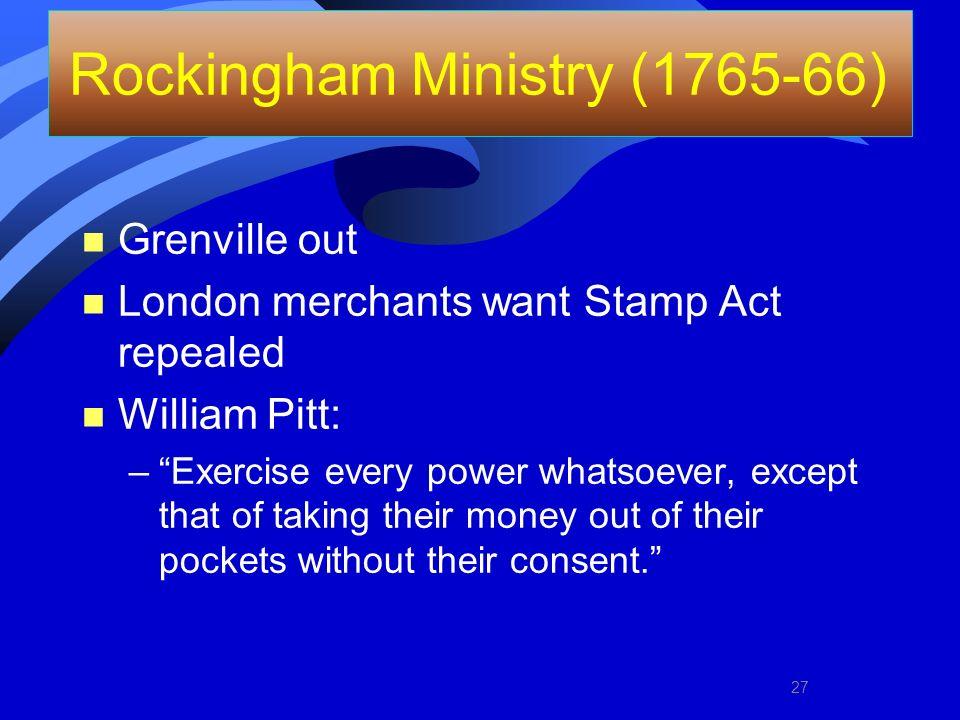 Rockingham Ministry (1765-66)
